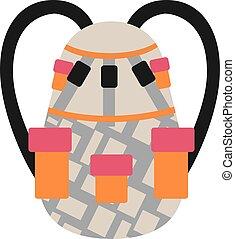 Snowboard sport bag design element for snowboarding  illustration