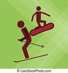 snowboard sport design, vector illustration
