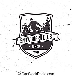 snowboard, vector, illustration., club.