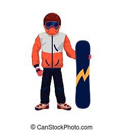 Snowboard winter sport snow icon. Vector graphic