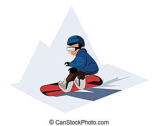 snowboarden, jongen