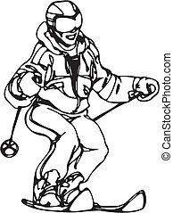 snowboarden, skien, &
