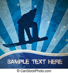 snowboarden, vector