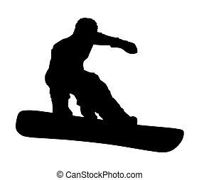 Snowboarder - An abstract vector illustration of a ...