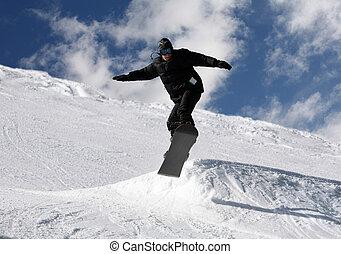 snowboarder, sauter