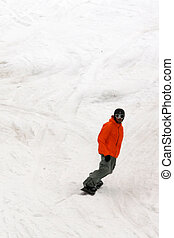 Snowboarder on Whistler Mountain in Canada
