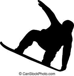 snowboarding, シルエット