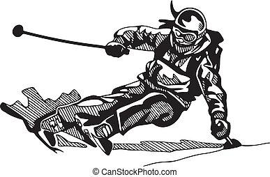 snowboarding, スキー, &