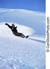 snowboarding, 女, 若い