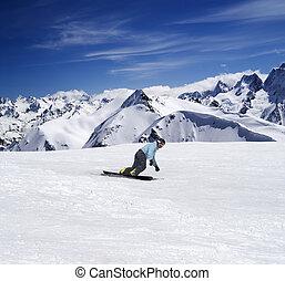 snowboarding, 山