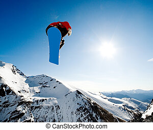 Snowboarding action
