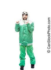 snowboarding, déguisement, homme