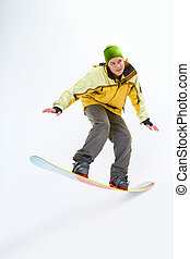 Snowboarding man