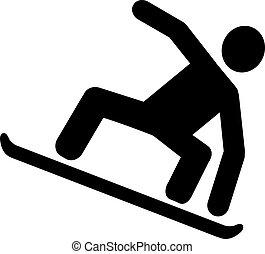 snowboarding, pictogram