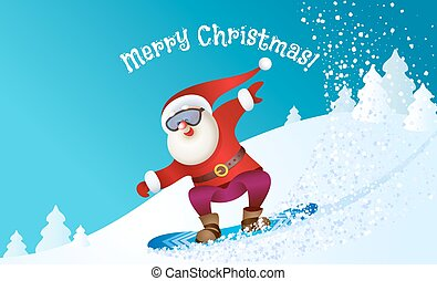 snowboarding, santa, トナカイ