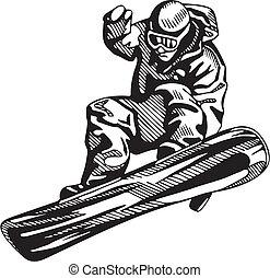 snowboarding, ski, &