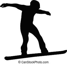 snowboarding, sport, hiver
