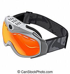 snowboarding, védőszemüveg
