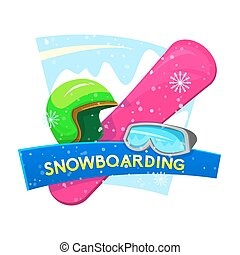 Snowboarding vector illustration