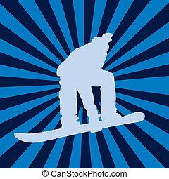 snowboarding, vetorial