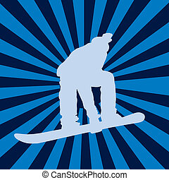 snowboarding, vettore