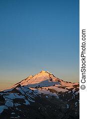 Snowcapped Mount Baker at sunrise, Washington state