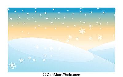 snowcapped, nevar, montaña, encima