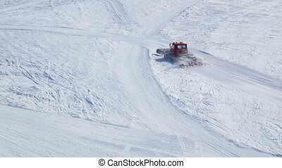 Snowcat skiing mountains