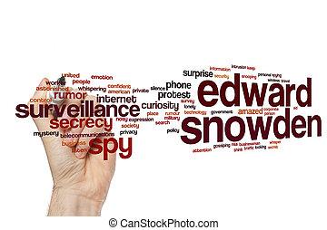 snowden, edward, palabra, nube