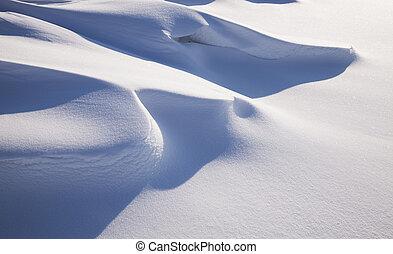snowdrift, neve