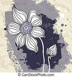 Snowdrop flower on Crumpled paper background. - Snowdrop...