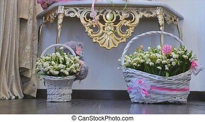 Snowdrop flowers. Snowdrops in basket - Snowdrop flowers...