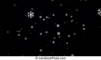 Snowfall Alpha Channel - Loop - Seamless loop snowfall...