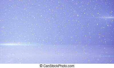snowfall and light stripes loop