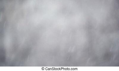 Snowfall as winter backdrop