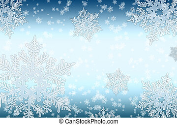 Snowfall - Snowflakes in the blue, a quiet, the night sky