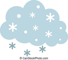 Snowfall flat illustration on white