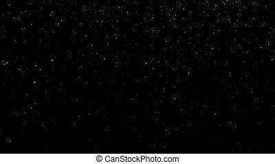 Snowfall Gentle - Gentle snowfall on black background