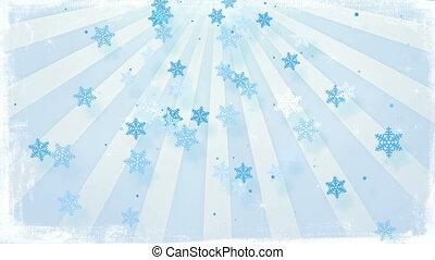 snowfall in circular rays loopable animation