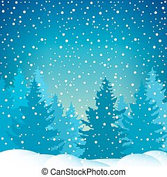 Snowfall in the Spruce Forest