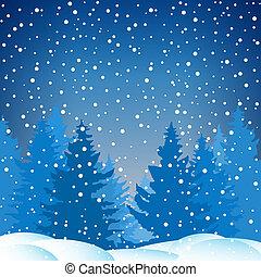 Winter Snowy Night