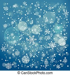 Snowfall in winter abstract background. Christmas background