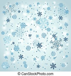 Snowfall in winter. Abstract background