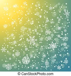 Snowfall in winter abstract background