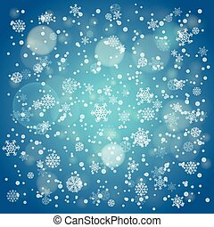 Snowfall in winter abstract background. Vector background