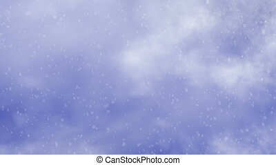 snowfall on clouds sky backgrounds