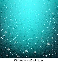 snowfall on dark blue background