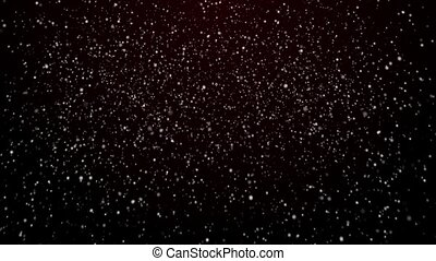 Snowfall on dark blue background. Snowflakes.