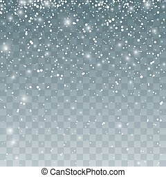 Snowfall pattern. Falling snowflakes. Vector illustration...