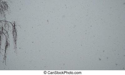 Snowfall slow motion
